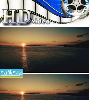 دانلود ویدیو فوتیج غروب خورشید زیبا