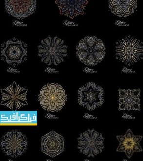 دانلود وکتور طرح های تزئینی و نورانی دایره ای شکل