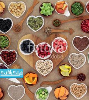 دانلود تصویر استوک غذا های مختلف - رایگان