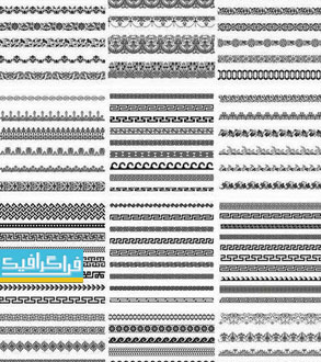 دانلود وکتور حاشیه و قاب صفحه - طرح یونانی