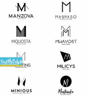 دانلود لوگو های حرف M - لایه باز فتوشاپ و وکتور