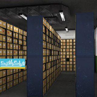 دانلود مدل سه بعدی اتاق بایگانی اسناد و مدارک