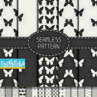دانلود وکتور پترن های سیاه و سفید - طرح مختلف