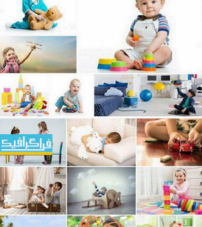 دانلود تصاویر استوک کودکان با اسباب بازی