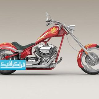 دانلود مدل سه بعدی موتور سیکلت چاپر