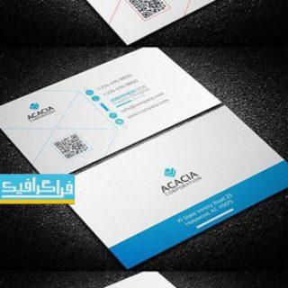دانلود کارت ویزیت لایه باز فتوشاپ شرکتی - شماره 163