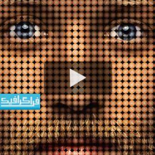 آموزش فتوشاپ ساخت افکت عکس پیکسل نقطه ای