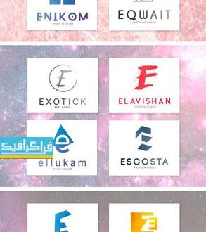 دانلود لوگو های حرف E - لایه باز فتوشاپ و وکتور