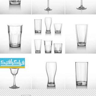 دانلود وکتور لیوان های نوشیدنی خالی - طرح مختلف