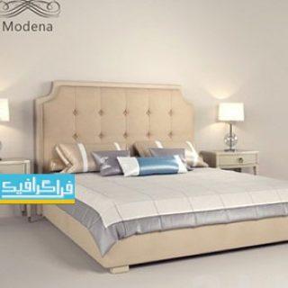 دانلود مدل سه بعدی تختخواب مدرن - شماره 5