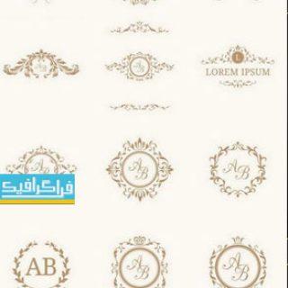 دانلود لوگو های مونوگرام حروف قاب طلایی - شماره 2