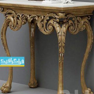 دانلود مدل سه بعدی میز - آینه - شمعدان