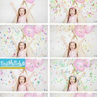 دانلود تصاویر کاغذ های رنگی جشن پس زمینه شفاف - شماره 2