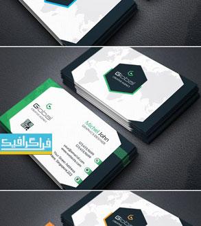 دانلود کارت ویزیت لایه باز وکتور شرکتی - شماره 170