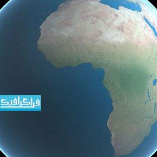 دانلود مدل سه بعدی کره زمین بدون ابر - کیفیت 16K