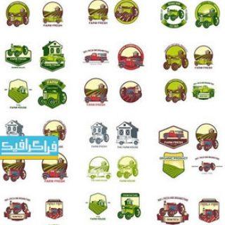 دانلود لوگو های مزرعه لایه باز وکتور - Farm Logos