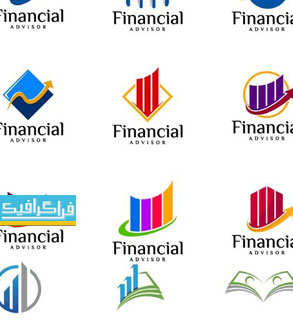 دانلود لوگو های مالی و تجارت - لایه باز وکتور