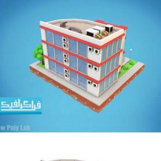 دانلود مدل سه بعدی ساختمان هتل کارتونی - لو پلی