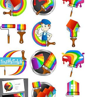 دانلود لوگو های نقاشی خانه و ساختمان - لایه باز وکتور