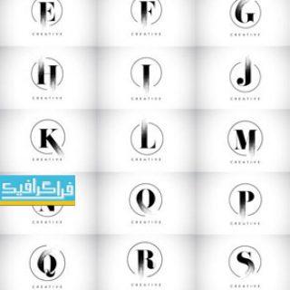 دانلود لوگو های حروف انگلیسی - طرح خط قلموی نقاشی