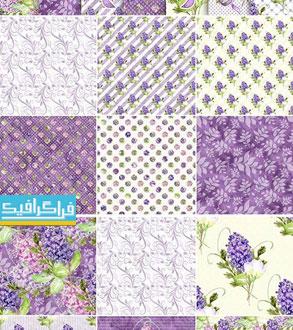 دانلود پترن های گل یاس بنفش - فایل تصویری