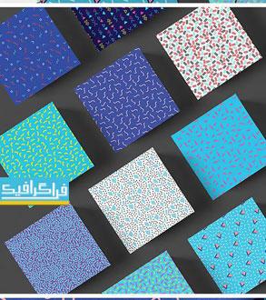 دانلود پترن خطوط و اشکال مختلف - لایه باز وکتور و تصویر