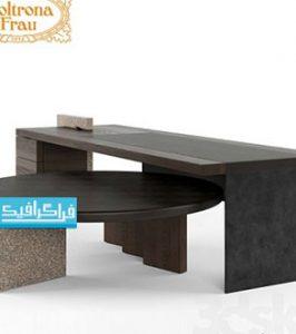 دانلود مدل سه بعدی میز های چوبی مدرن