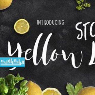 دانلود فونت انگلیسی گرافیکی Yellow Lime