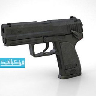 دانلود مدل سه بعدی اسلحه کلت کمری