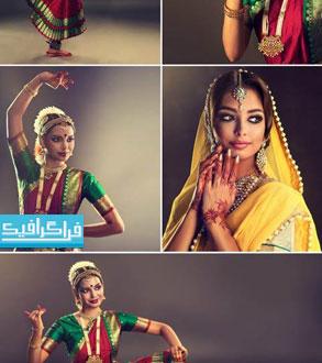 دانلود تصاویر استوک زنان هندی با لباس محلی و سنتی