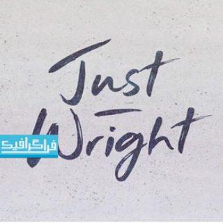 دانلود فونت انگلیسی دستخط Just Wright