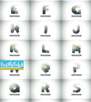 دانلود لوگو های حروف انگلیسی - طرح جنگل مه گرفته