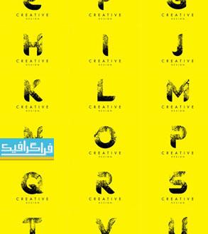 دانلود لوگو های حروف انگلیسی - طرح شاخه های درخت