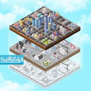 دانلود مدل سه بعدی شهر و ساختمان - تکنیک لو پلی