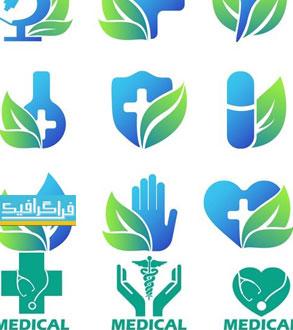 دانلود لوگو های پزشکی و سلامت - لایه باز وکتور
