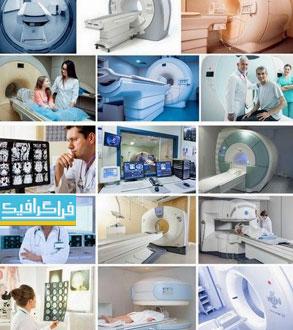 دانلود تصاویر استوک دستگاه MRI و دکتر همراه
