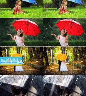 دانلود تصاویر افکت باران - Rain Overlays