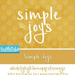 دانلود فونت انگلیسی گرافیکی Simple Joys