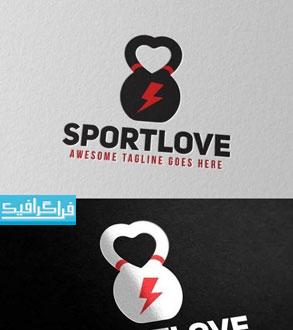 دانلود لوگو قلب و ورزش - لایه باز وکتور