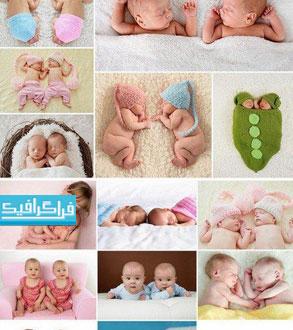 دانلود تصاویر استوک نوزادان دوقلو - Twins Baby Stock