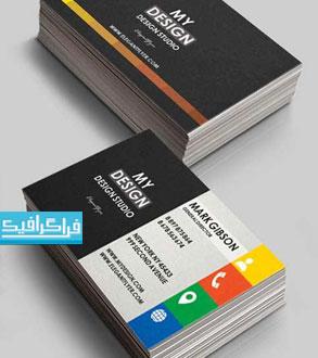 دانلود کارت ویزیت لایه باز فتوشاپ شرکتی - شماره 186