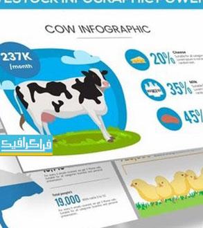 دانلود قالب پاورپوینت اینفوگرافیک مزرعه و حیوانات