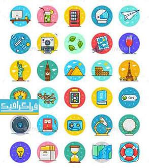 دانلود آیکون های فلت مختلف - Flat Icons - شماره 36