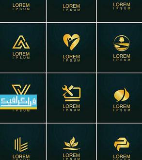 دانلود لوگو های طلایی مختلف لایه باز وکتور - شماره 9
