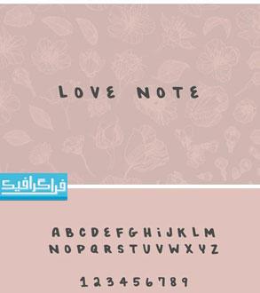 دانلود فونت انگلیسی عاشقانه Love Note