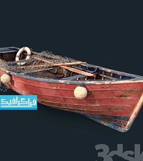 دانلود مدل سه بعدی قایق ماهیگیری قدیمی