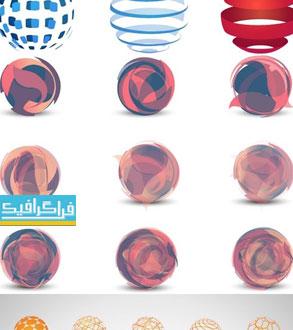 دانلود لوگو کره های سه بعدی لایه باز وکتور - شماره 2