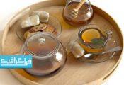 دانلود مدل سه بعدی سینی استکان چای و عسل