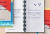 دانلود ماک آپ فتوشاپ دفتر یادداشت سیمی