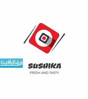 دانلود لوگو رستوران سوشی - لایه باز وکتور